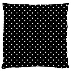 Black Polka Dots Large Flano Cushion Case (one Side) by jumpercat