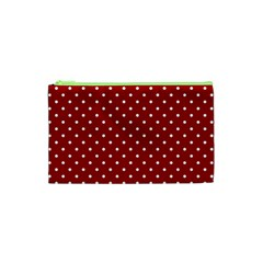 Red Polka Dots Cosmetic Bag (xs) by jumpercat