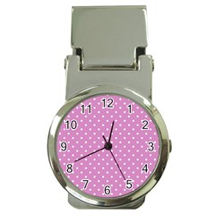 Pink Polka Dots Money Clip Watches by jumpercat