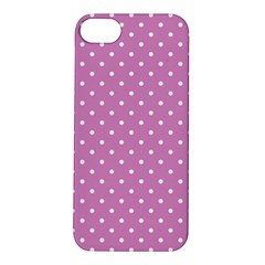 Pink Polka Dots Apple Iphone 5s/ Se Hardshell Case by jumpercat