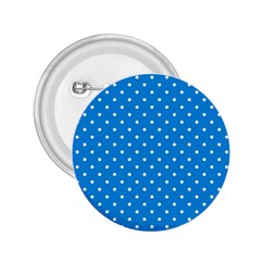 Blue Polka Dots 2 25  Buttons by jumpercat