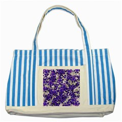 Mistic Leaves Striped Blue Tote Bag by jumpercat