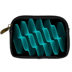 Background Light Glow Blue Green Digital Camera Cases by Nexatart