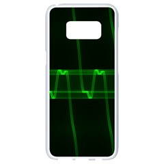 Background Signal Light Glow Green Samsung Galaxy S8 White Seamless Case by Nexatart