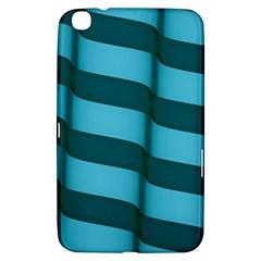 Curtain Stripped Blue Creative Samsung Galaxy Tab 3 (8 ) T3100 Hardshell Case  by Nexatart
