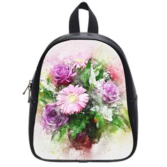 Flowers Roses Bouquet Art Nature School Bag (small) by Nexatart