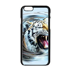 Tiger Animal Art Swirl Decorative Apple Iphone 6/6s Black Enamel Case by Nexatart
