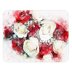 Flowers Roses Bouquet Art Nature Double Sided Flano Blanket (large)  by Nexatart