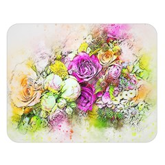 Flowers Bouquet Art Nature Double Sided Flano Blanket (large)  by Nexatart
