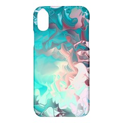 Background Art Abstract Watercolor Apple Iphone X Hardshell Case by Nexatart