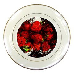 Strawberry Fruit Food Art Abstract Porcelain Plates by Nexatart