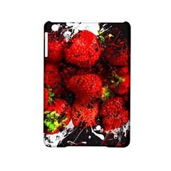 Strawberry Fruit Food Art Abstract Ipad Mini 2 Hardshell Cases by Nexatart