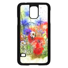 Flowers Bouquet Art Nature Samsung Galaxy S5 Case (black) by Nexatart