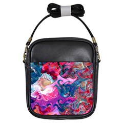 Background Art Abstract Watercolor Girls Sling Bags by Nexatart