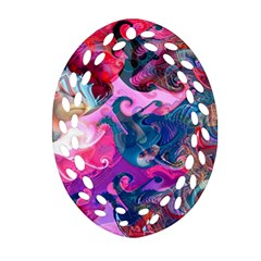 Background Art Abstract Watercolor Oval Filigree Ornament (two Sides) by Nexatart