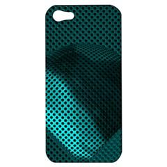 Background Sphere Ball Metal Blue Apple Iphone 5 Hardshell Case by Nexatart
