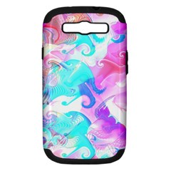 Background Art Abstract Watercolor Pattern Samsung Galaxy S Iii Hardshell Case (pc+silicone) by Nexatart
