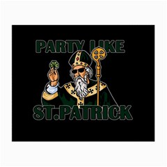 St  Patricks Day  Small Glasses Cloth (2 Side) by Valentinaart