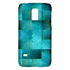 Background Squares Blue Green Galaxy S5 Mini by Nexatart