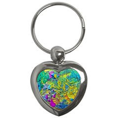 Background Art Abstract Watercolor Key Chains (heart)  by Nexatart