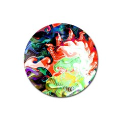 Background Art Abstract Watercolor Magnet 3  (round) by Nexatart