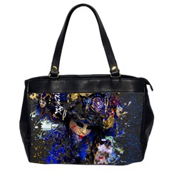 Mask Carnaval Woman Art Abstract Office Handbags (2 Sides)  by Nexatart