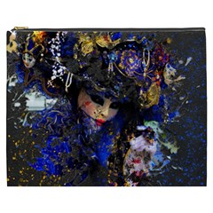 Mask Carnaval Woman Art Abstract Cosmetic Bag (xxxl)  by Nexatart