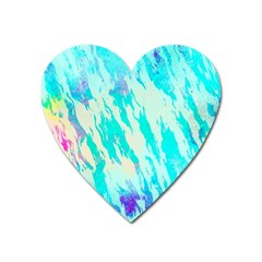 Blue Background Art Abstract Watercolor Heart Magnet by Nexatart