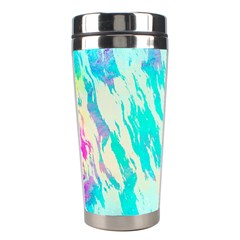 Blue Background Art Abstract Watercolor Stainless Steel Travel Tumblers by Nexatart
