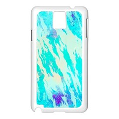 Blue Background Art Abstract Watercolor Samsung Galaxy Note 3 N9005 Case (white) by Nexatart