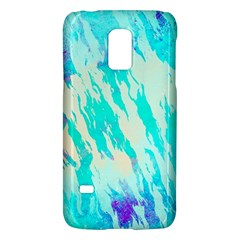 Blue Background Art Abstract Watercolor Galaxy S5 Mini by Nexatart
