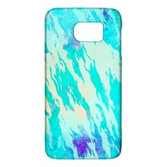 Blue Background Art Abstract Watercolor Galaxy S6 by Nexatart
