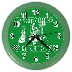 St  Patricks Day  Color Wall Clocks by Valentinaart