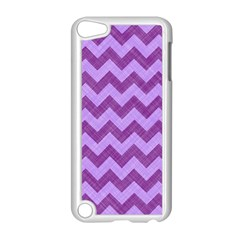 Background Fabric Violet Apple Ipod Touch 5 Case (white) by Nexatart