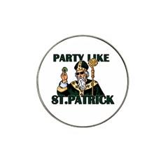 St  Patricks Day  Hat Clip Ball Marker by Valentinaart