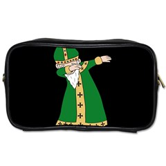 St  Patrick  Dabbing Toiletries Bags by Valentinaart