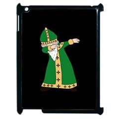 St  Patrick  Dabbing Apple Ipad 2 Case (black) by Valentinaart