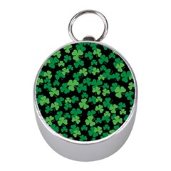 St  Patricks Day Clover Pattern Mini Silver Compasses by Valentinaart