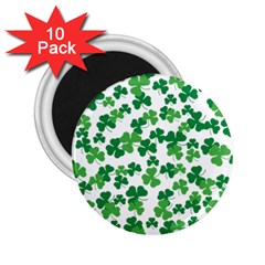 St  Patricks Day Clover Pattern 2 25  Magnets (10 Pack)  by Valentinaart