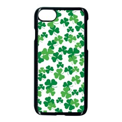 St  Patricks Day Clover Pattern Apple Iphone 7 Seamless Case (black) by Valentinaart