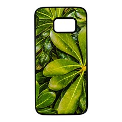 Top View Leaves Samsung Galaxy S7 Black Seamless Case by dflcprints
