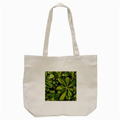 Top View Leaves Tote Bag (cream) by dflcprints