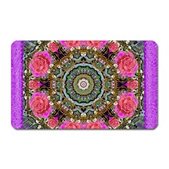 Roses In A Color Cascade Of Freedom And Peace Magnet (rectangular) by pepitasart
