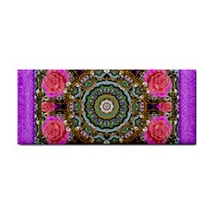Roses In A Color Cascade Of Freedom And Peace Hand Towel by pepitasart