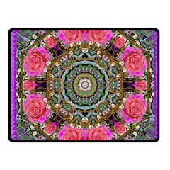 Roses In A Color Cascade Of Freedom And Peace Fleece Blanket (small) by pepitasart