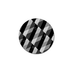 Black And White Grunge Striped Pattern Golf Ball Marker (4 Pack) by dflcprints