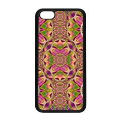 Jungle Flowers In Paradise  Lovely Chic Colors Apple Iphone 5c Seamless Case (black) by pepitasart