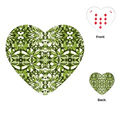 Stylized Nature Print Pattern Playing Cards (heart)  by dflcprints