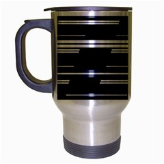 Skewed Stripes Pattern Design Travel Mug (silver Gray) by dflcprints