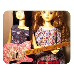 Playing The Guitar Double Sided Flano Blanket (large)  by snowwhitegirl